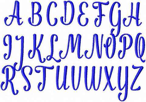 Julio Font - this is an alternative character font comes in 1, 1.5, 2, 2.5 inch sizes