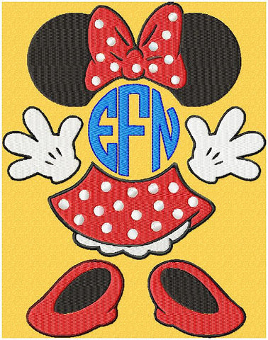 Minnie Monogram Frame