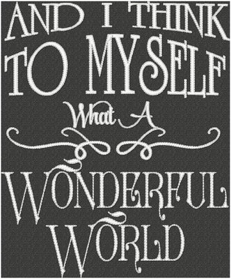And I Think To Myself - What A Wonderful World