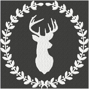 Deer with Laurel - instant download