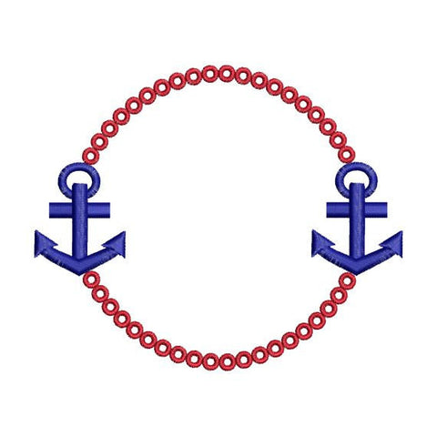 Anchor Monogram Frame