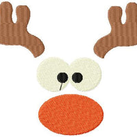 Reindeer Face - 2 ways - Applique and full stitch versions in various sizes