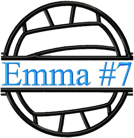 Volleyball Frame for name,team number - comes in 4 sizes, 3x3,4x4,6x6 and 8x8