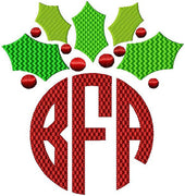 Holly Monogram Topper comes in 4 sizes 1,2,3, and 4 inch letter size