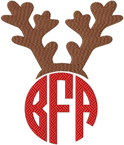 Reindeer Monogram Topper - comes in 4 sizes for 1,2,3 and 4 inch letter sizes