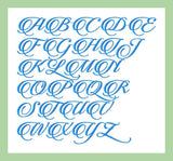 Candle Script Font - 2 inch size  Machine Embroidery Design -