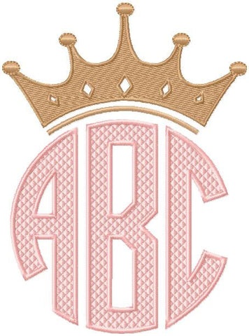 Crown Monogram Topper - Comes in 4 sizes to fit 4,3,