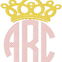 Crown Monogram Topper - comes in 2 Sizes 3.5x2 fits 3 inch letters and 5x2.5 fits 4 inch letters
