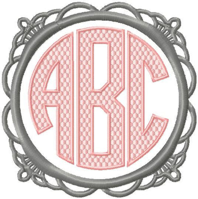 Assortment of 4 monogram frames all come in sizes to fit 2,3,and 4 inch letters