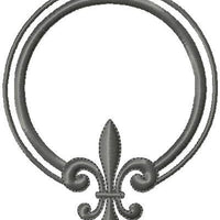 Fleur De Lis Circle Monogram Frame comes in 3 sizes 3.5x4.5, 4x5, and 5x6
