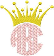 Crown Monogram Topper comes in 4 sizes