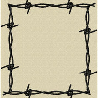 Barb Wire Frame - Comes in 6 sizes