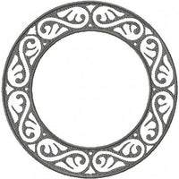 Damask Circle Monogram Frame comes in 7,6,5,4,3inch sizes