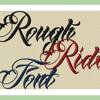 Rough Rider Font - comes in 2,3,4 inch Upper and Lower Case Letters