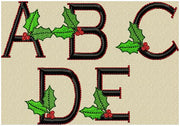 "Christmas Holly Font - Comes in 3 inch with 1.75"" plain side letters"