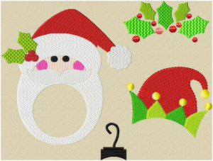 Group of 4 Christmas Monogram Toppers various sizes for 1,2,3,4 inch letters