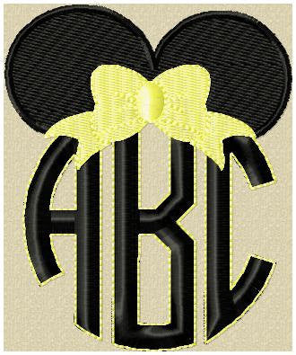 Minnie Monogram Topper - fits letters 2, 2.5,3,3.5 and 4 inch letters