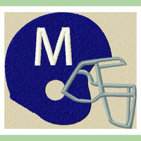 Helmet Font Football Helmet - comes in 2.5,3.5, and 4.5 inch sizes Machine Embroidery Font -