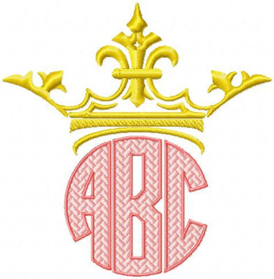 Crown Monogram Topper - fits 2.5,3,3.5,and 4 inch letters