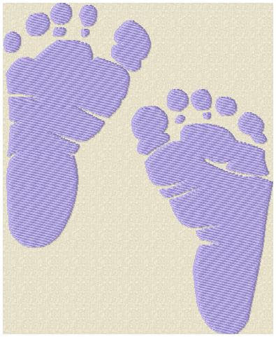 Baby Feet comes in 4 sizes