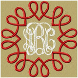 Heart Swirl Design - Monogram Frame comes in sizes to fit 2,3,3.5,and 4 inch letters