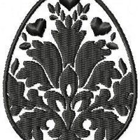 Damask Easter Egg