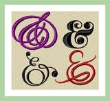 Ampersand Assortment  - 10 Different Ampersands