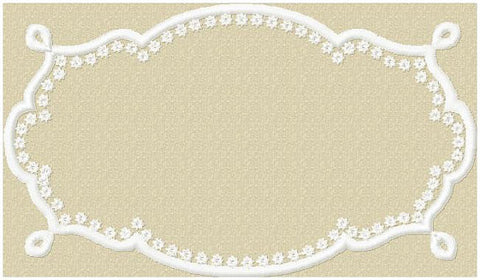 Ornate Monogram Frame come in 2 sizes 4x2 and 7x5