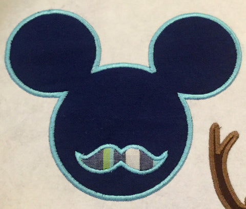 Mickey Mustache - comes in 4,5,6,7 and 8 inch sizes