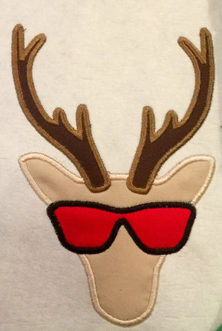 Deer with sunglasses Applique