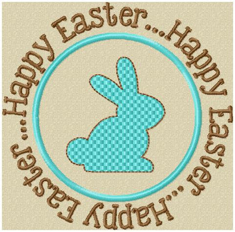 Happy Easter Bunny Circle design