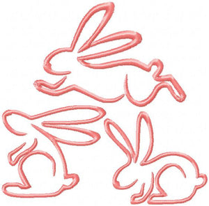 Easter Bunnies 3 different designs