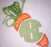 Easter Carrot Applique