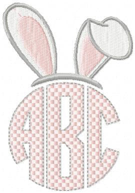 Easter Bunny Ear Monogram Topper comes in sizes to fit 2, 2.5, 3, 3.5 and 4 inch letters