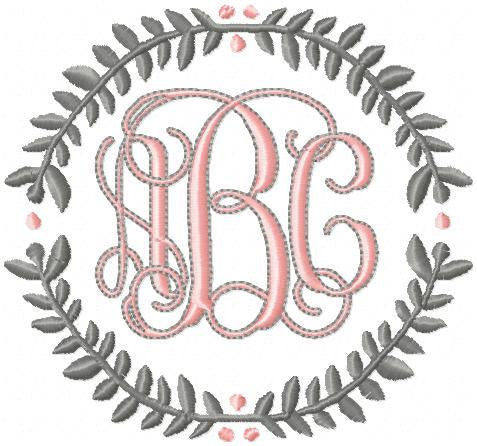 Laurel Circle - monogram Frame