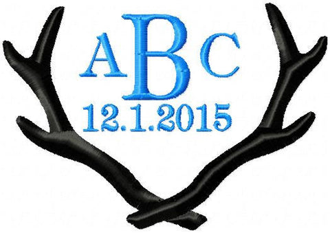 Antler Monogram Frame comes in 2,3,4,5,6,7,8,9 inch sizes