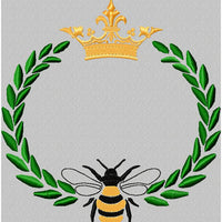 Queen Bee with Laurel and Crown
