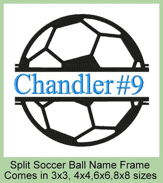 Split Soccer Ball comes in 4 sizes 8x8,6x6,4x4,3x3