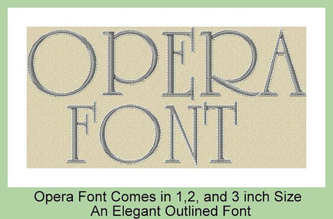 Opera - comes in 1,2 and 3 inch letters - BONUS set of numbers, & and period