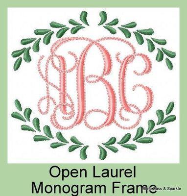 Laurel Monogram Frame