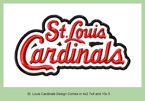 St. Louis Cardinals Designs 4x2, 7x4, and 10x5 sizes