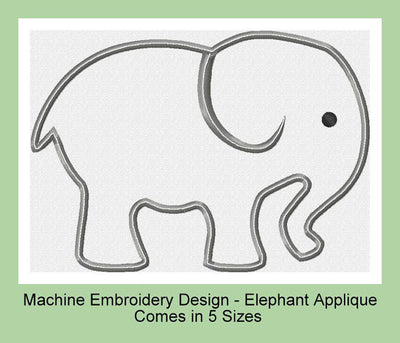 Elephant Applique Comes in 5 sizes