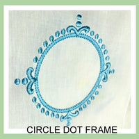 Circle Dot Monogram Frame - Machine Embroidery Design