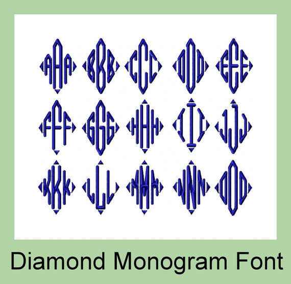 diamond monogram font 3 inch  u2013 bling sass  u0026 sparkle