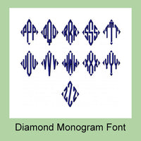 Diamond Monogram Font 3 Inch