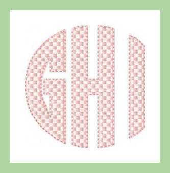 Circle Brick font in 3,and 2.5 inch Machine Embroidery Font -