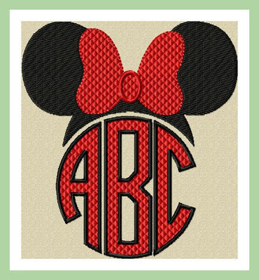 Minnie Monogram Topper - comes in sizes to fit 2,3,3.5,and 4 inch letters
