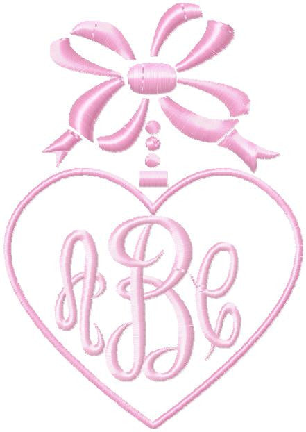 Heart And Bow Monogram Frame Comes In 4 Sizes Bling Sass Sparkle
