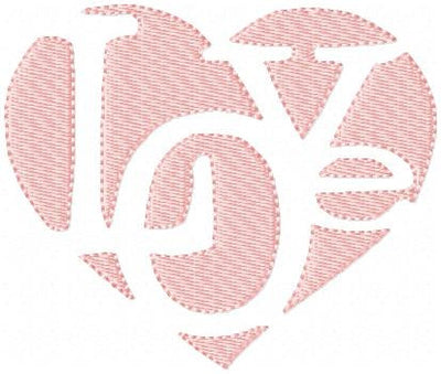Love Heart - Machine Embroidery Design