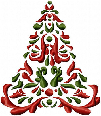 Christmas Tree   Machine Embroidery Design